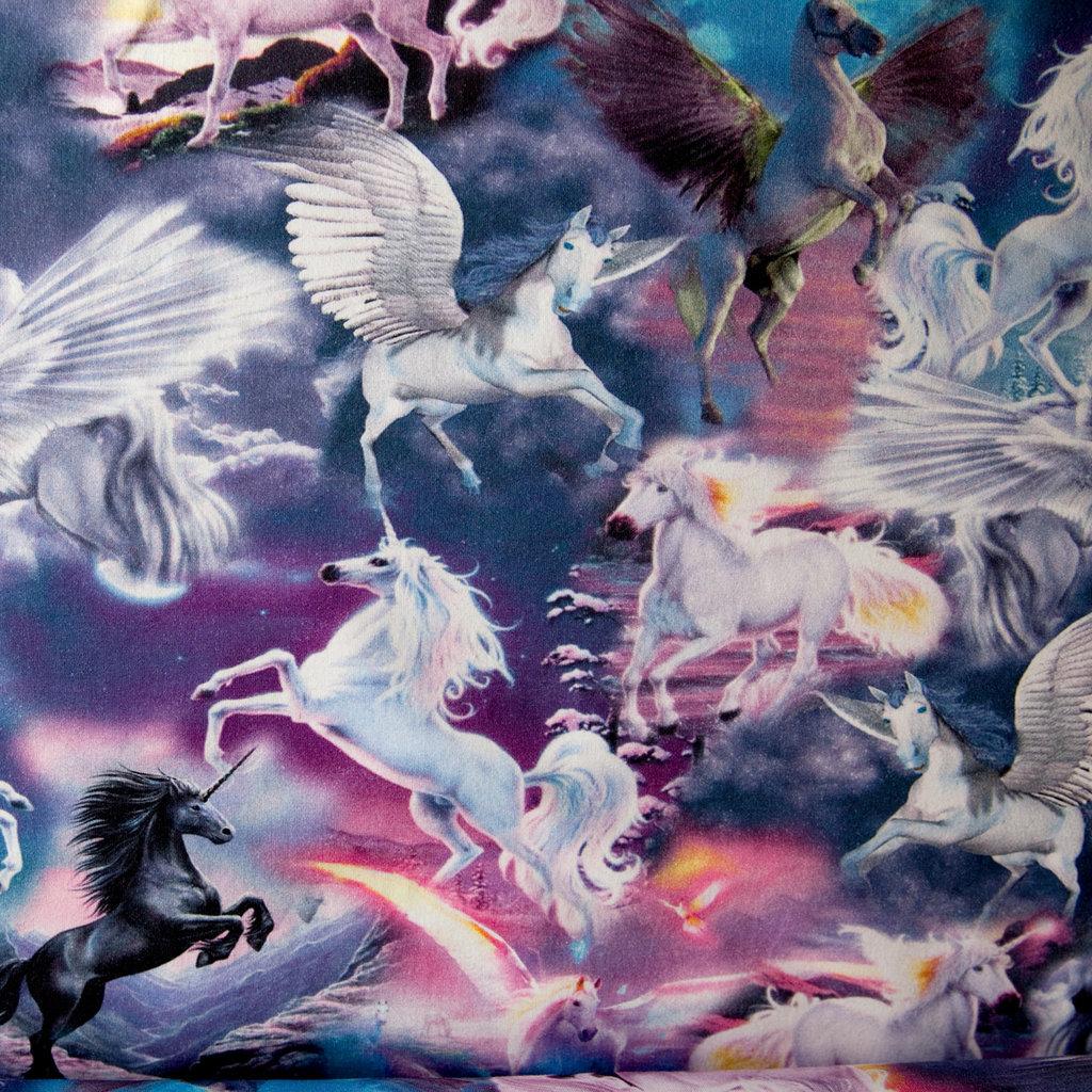Jerseystoff Einhorn Pegasus Pferde Digitaldruck kaufen Preise