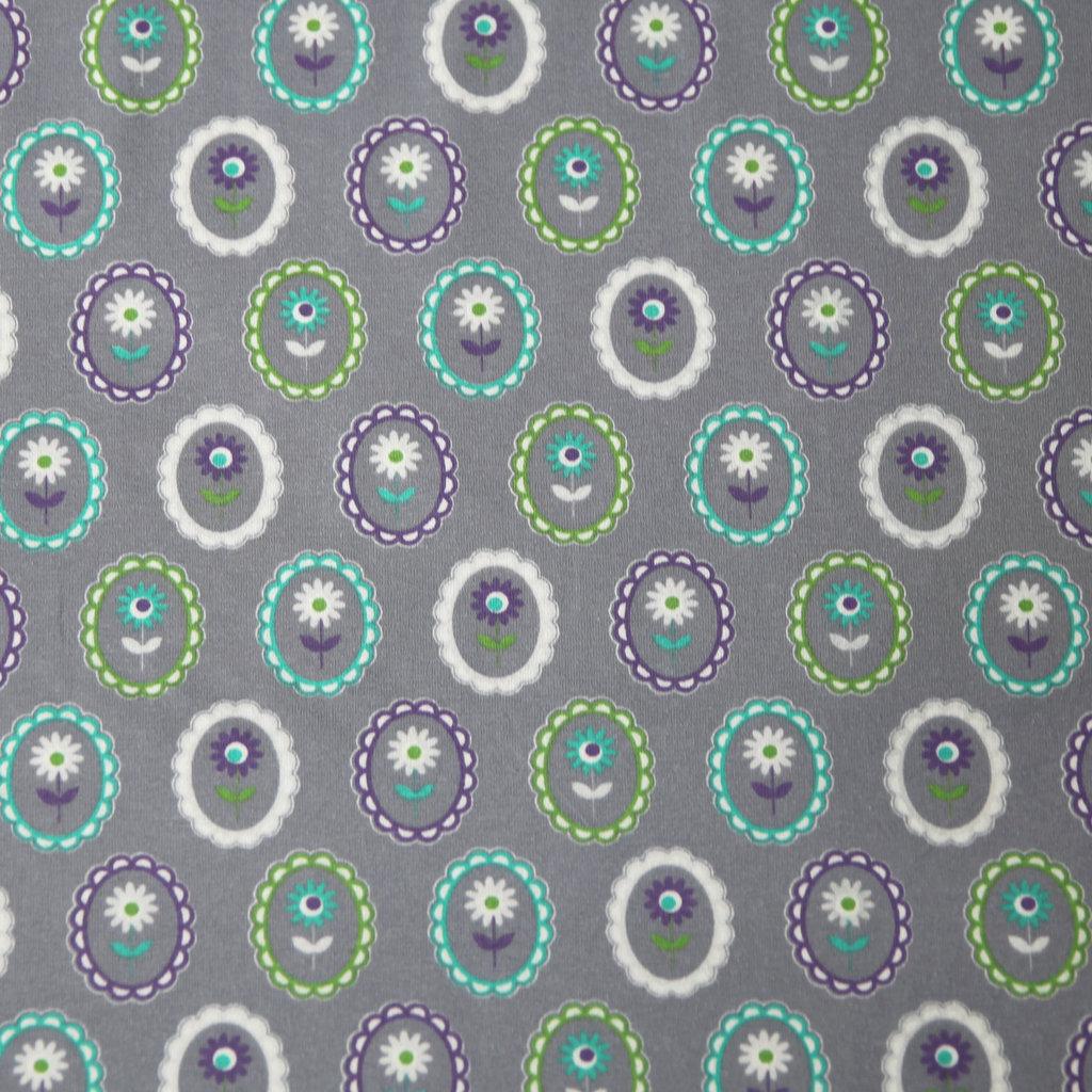 jersey stoff bl mchen auf grau g nstig kaufen in online shop. Black Bedroom Furniture Sets. Home Design Ideas