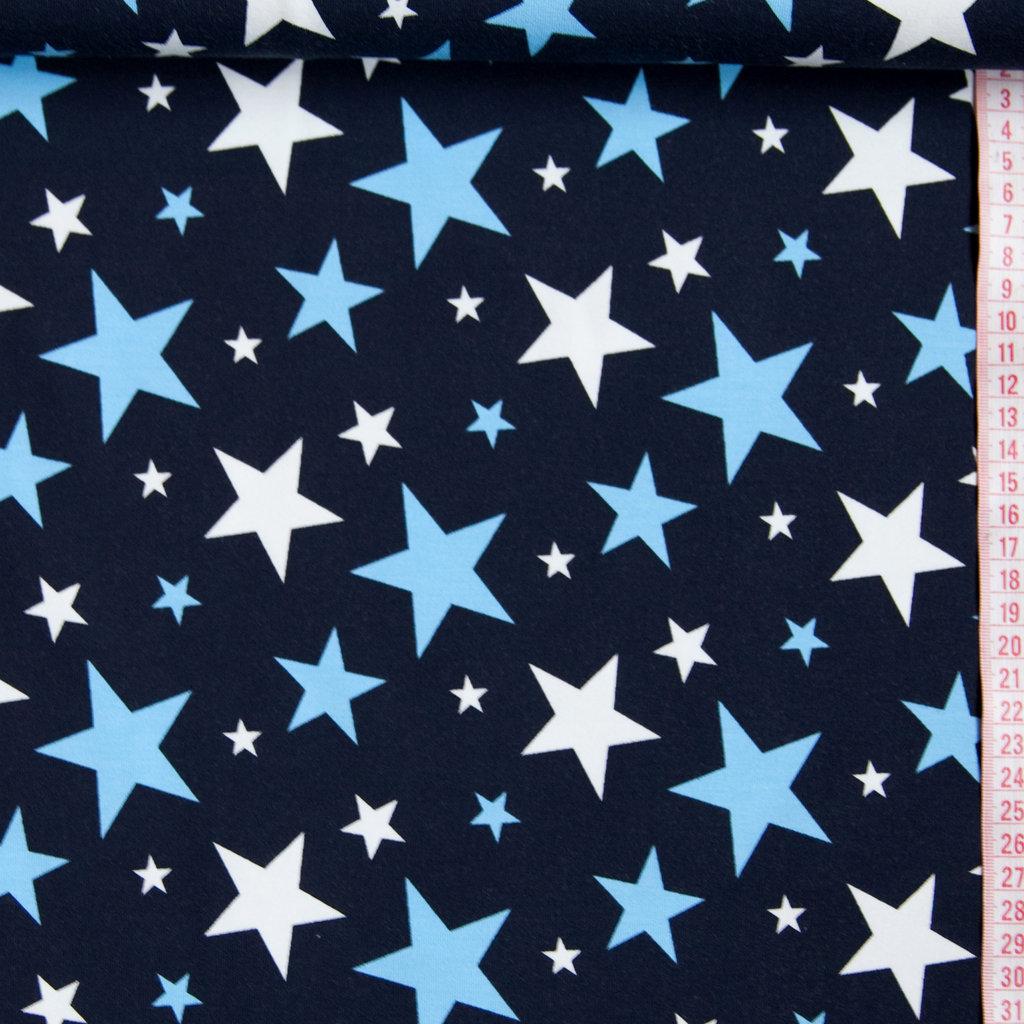 jersey stoff marineblau sterne hellblau wei g nstig kaufen. Black Bedroom Furniture Sets. Home Design Ideas