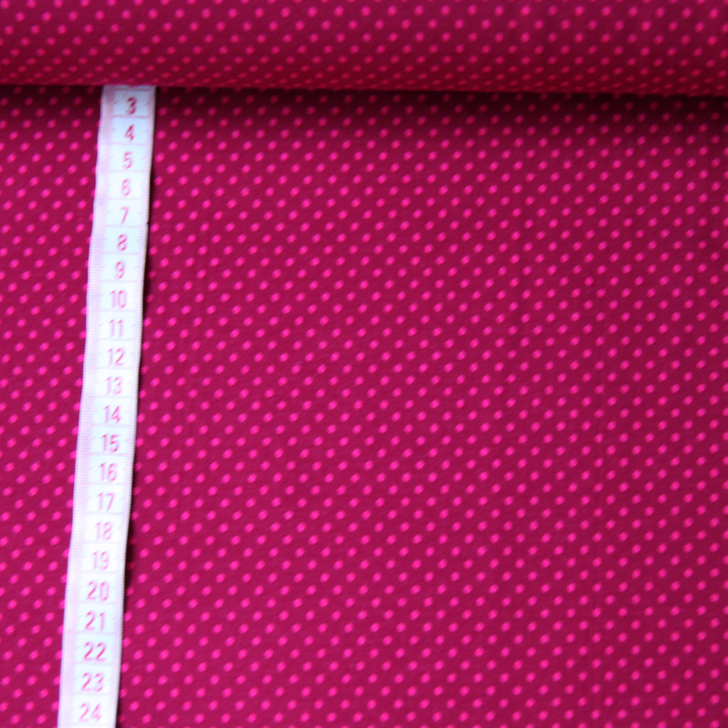 jersey stoff bordeaux dots mit fuchsia punkte g nstig kaufen. Black Bedroom Furniture Sets. Home Design Ideas