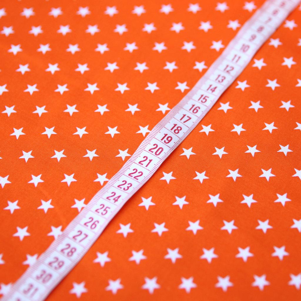 baumwollstoff patchwork sterne orange auf wei g nstig kaufen. Black Bedroom Furniture Sets. Home Design Ideas