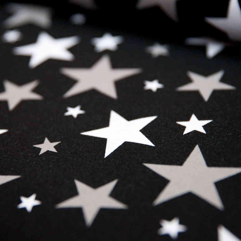 Jersey Stoff Schwarz Sterne Grau Weiß Günstig Kaufen