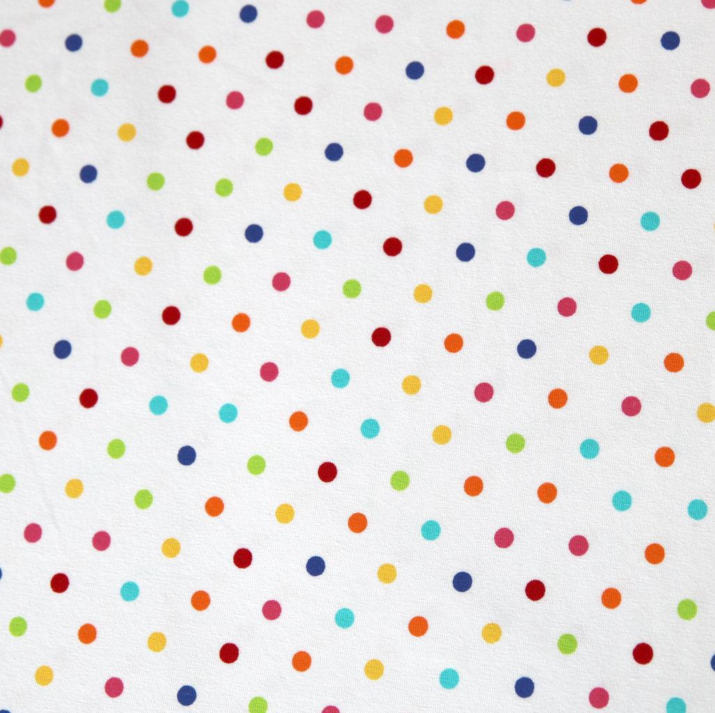 Jersey Stoff Tupfen Polka Dots Punkte Bunt Auf Weiss Kaufen
