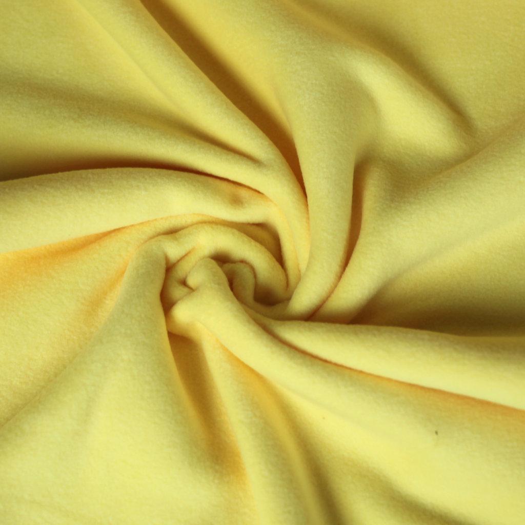 fleece stoff uni einfarbig gelb g nstiger online kaufen. Black Bedroom Furniture Sets. Home Design Ideas