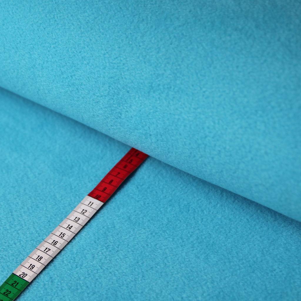fleece stoff uni einfarbig t rkis g nstiger online kaufen. Black Bedroom Furniture Sets. Home Design Ideas