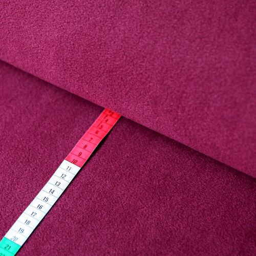 Fleece Stoff Uni Einfarbig Bordeaux