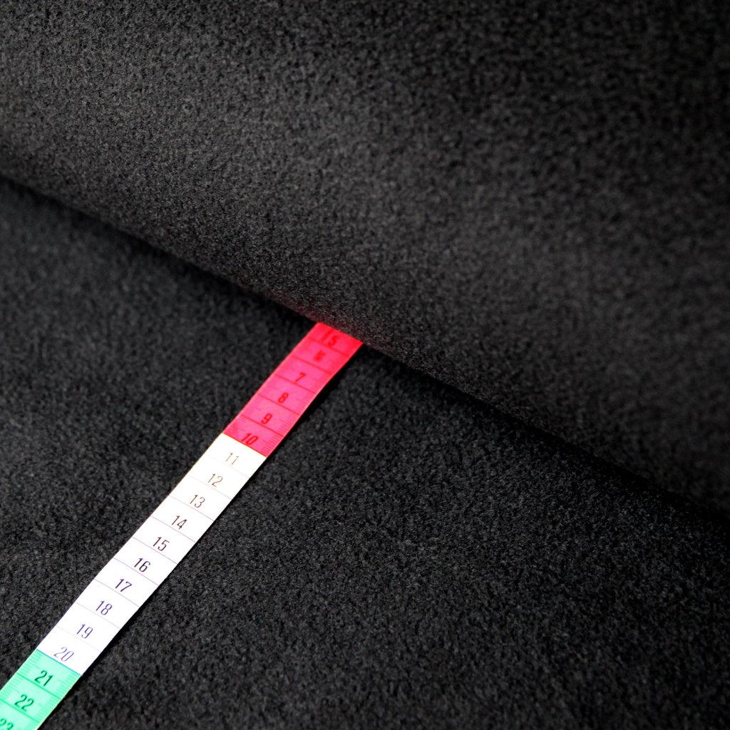 fleece stoff uni einfarbig schwarz g nstiger online kaufen. Black Bedroom Furniture Sets. Home Design Ideas