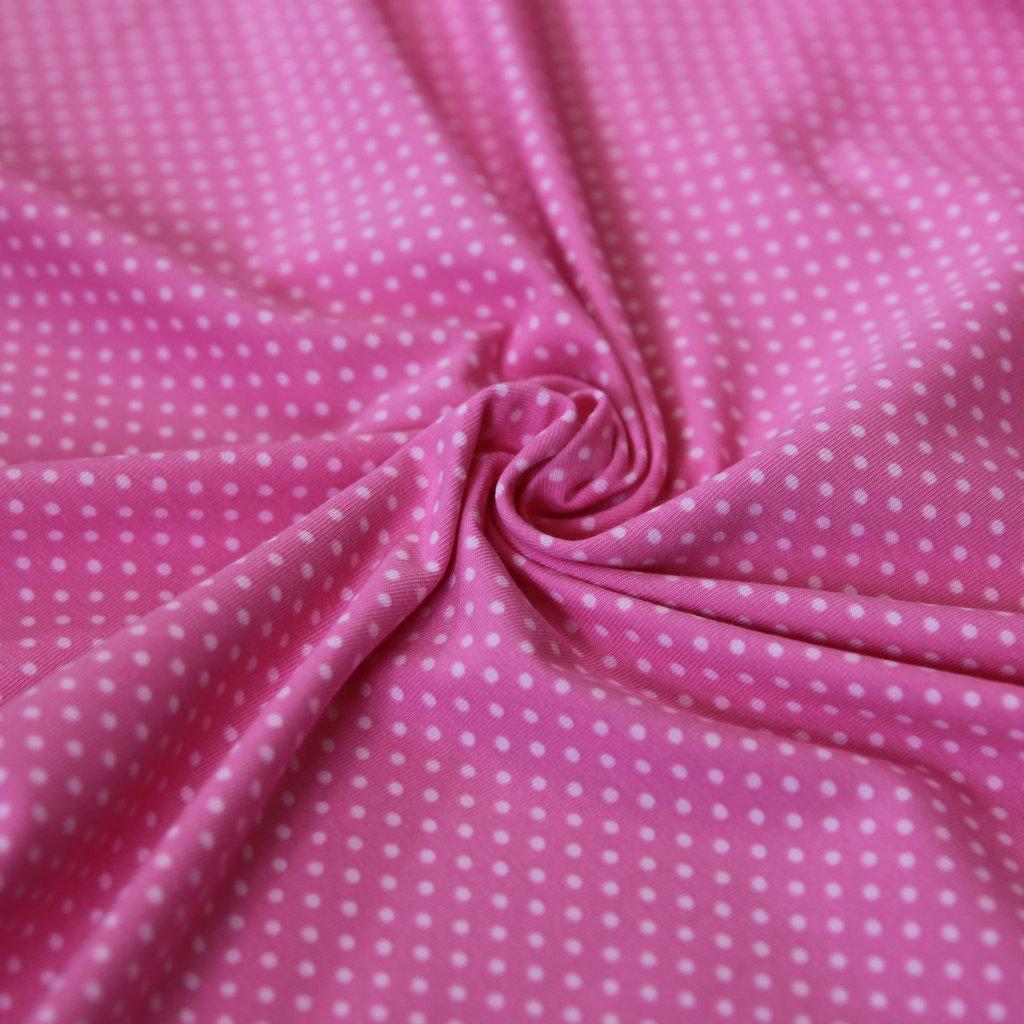 jersey stoff punkte tupfen mini dots zartrosa auf pink kaufen. Black Bedroom Furniture Sets. Home Design Ideas