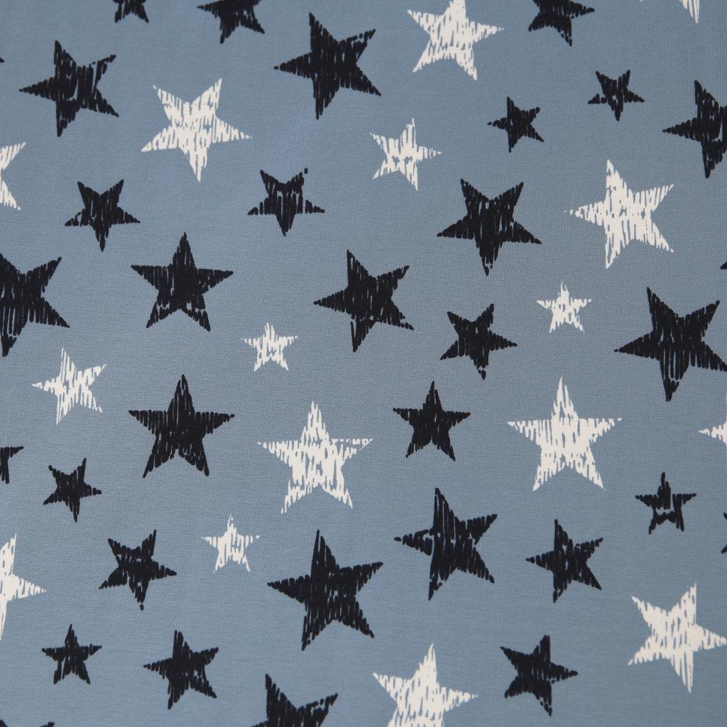 jerseystoff gekritzelte sterne auf rauchblau hell g nstig. Black Bedroom Furniture Sets. Home Design Ideas