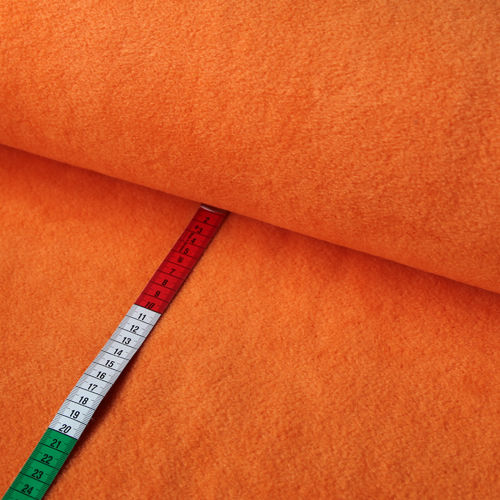 Fleece Stoff Uni Einfarbig Orange