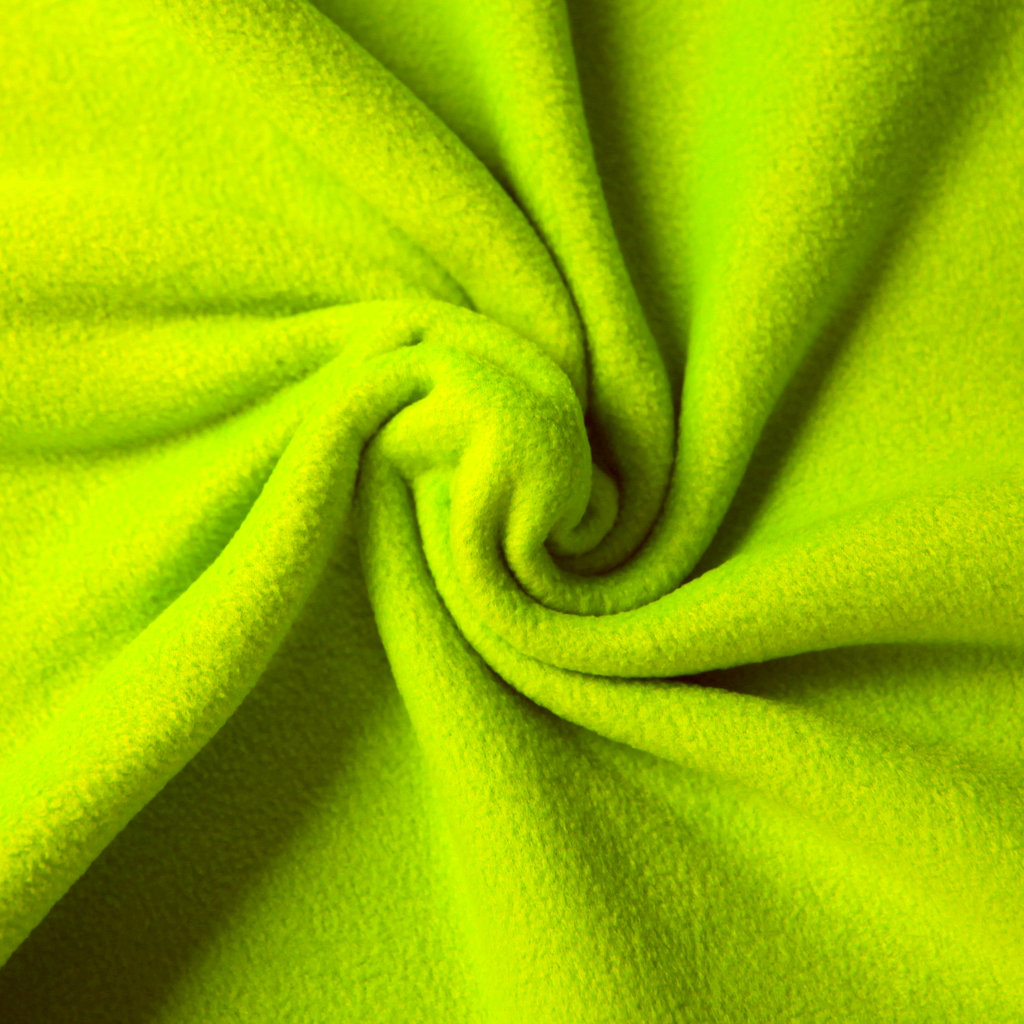 fleece stoff uni einfarbig neongr n g nstiger online kaufen. Black Bedroom Furniture Sets. Home Design Ideas
