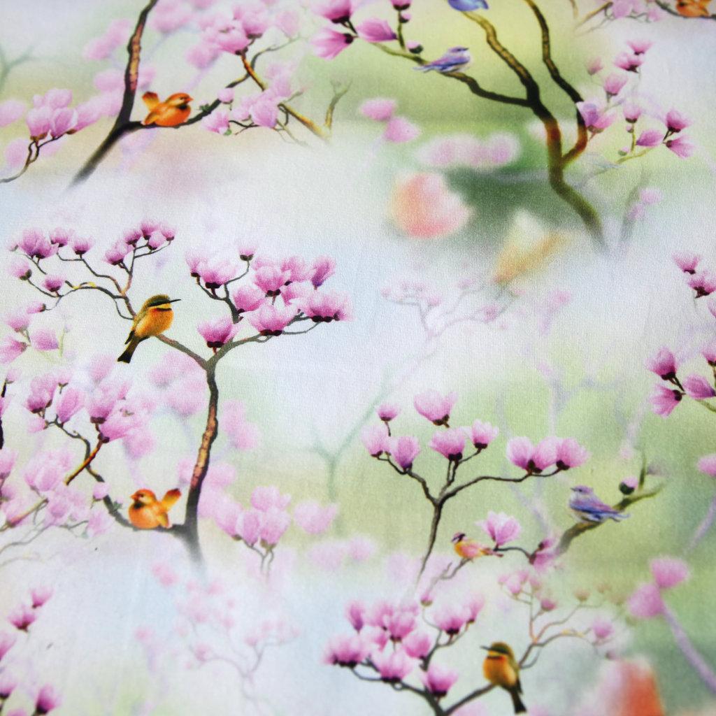 jersey stoff magnolie digitaldruck damen blumen v gel top. Black Bedroom Furniture Sets. Home Design Ideas